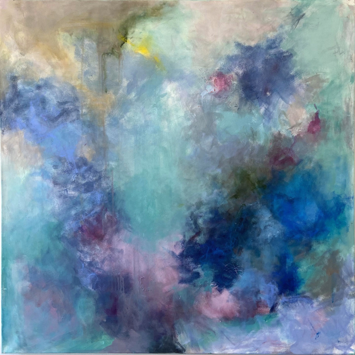 Abstract painting using an analogous color scheme as the inspiration
